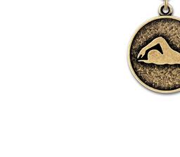 CX Swimming Medal w/ Drape   Swimming Awards   Hodges Badge